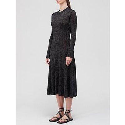 Joseph Diva Lurex Dress - Black