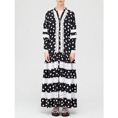 Paper London Hydrangea Spot Dress - Black