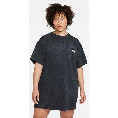 Nike Curve Nsw Wash Short Sleeved Dress - Washed Black