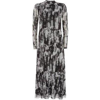 Mint Velvet Della Print Jersey Column Dress - Grey