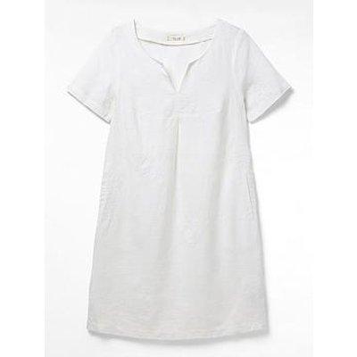 White Stuff Embroidered Tunic Dress - White