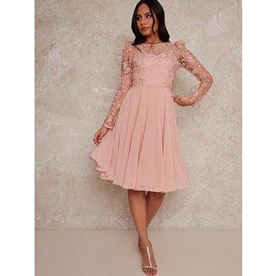 Chi Chi London Dorothee Dress - Rose Gold