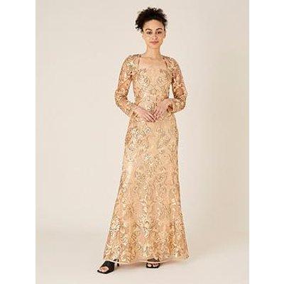 Monsoon Ariana Sequin Fishtail Maxi Dress
