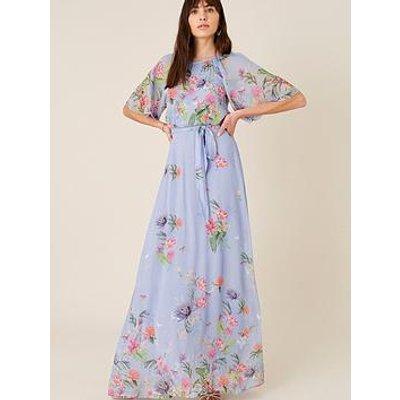Monsoon Esmee Printed Maxi Dress - Blue