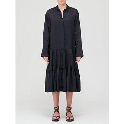 Joseph Dan Ramie Voile Dress - Black