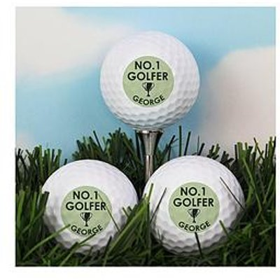The Personalised Memento Company Personalised No.1 Golfer Set Of Golf Balls