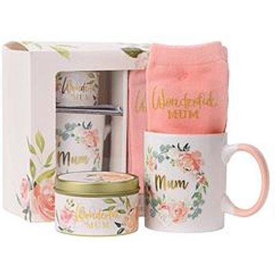 Mothers Day Wonderful Mum Candle, Sock And Mug Gift Set