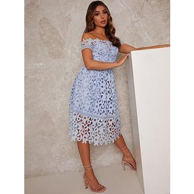 Chi Chi London Chi Chi Bardot Lace Midi Dress