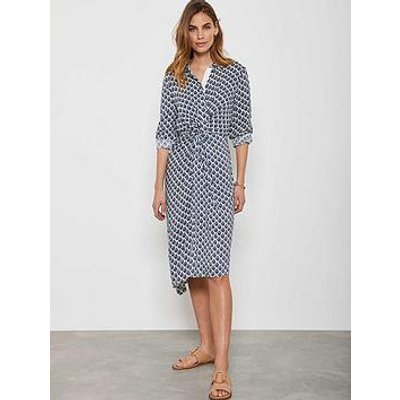 Mint Velvet Samantha Midi Shirt Dress - Blue