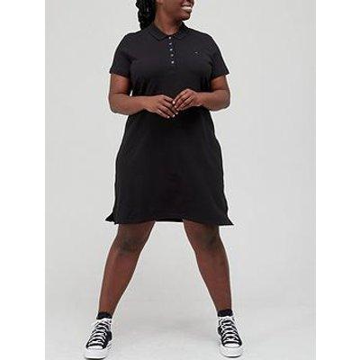 Tommy Hilfiger Curve Slim Polo Dress - Black