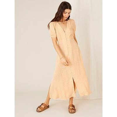 Monsoon Printed Midi Tea Dress