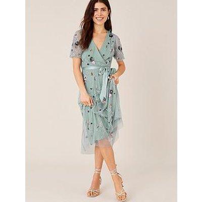 Monsoon Rosalie Embellished Midi Dress