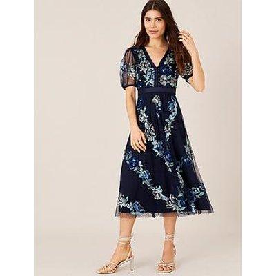 Monsoon Monsoon Oma Sustainable Embroidered Midi Dress