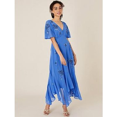 Monsoon Monsoon Amira Sustainable Emb Hanky Hem Dress
