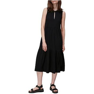 Whistles Tiered Jersey Dress - Black