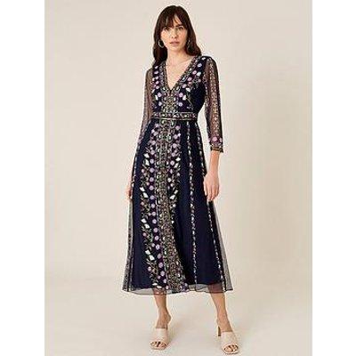 Monsoon Monsoon Amara Sustainable Embroidered Midi Dress