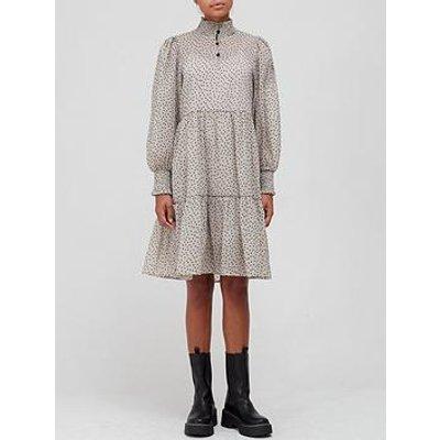 Sofie Schnoor High Neck Dot Print Dress - Sand