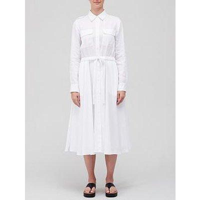 Equipment Jacqout Linen Midi Dress - White
