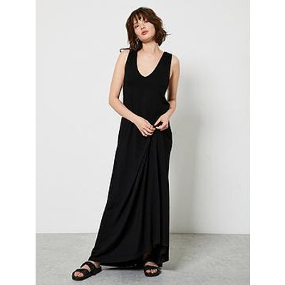 Mint Velvet Mint Velvet Black V-Neck Jersey Maxi Dress