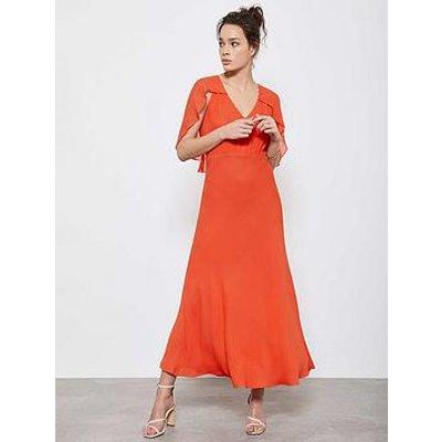 Mint Velvet Mint Velvet Orange Angel Sleeve Midi Dress