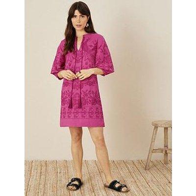 Monsoon Monsoon Artisan Studio Embroidered Kaftan Dress