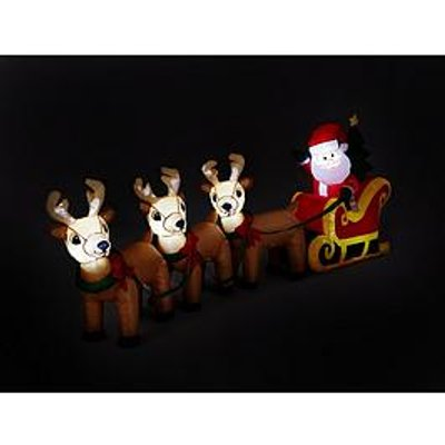 Inflatable Santa&Rsquo;S Sleigh Outdoor Christmas Decoration