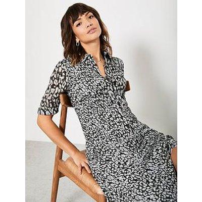 Mint Velvet Zoe Shirt Maxi Dress - Animal Print
