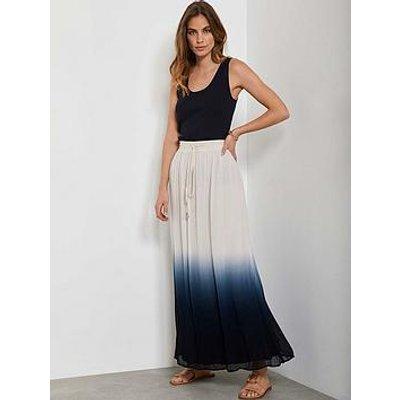 Mint Velvet Dip Dye Maxi Skirt - Indigo