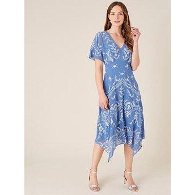 Monsoon Monsoon Daisy Sustainable Emb Dolman Dress