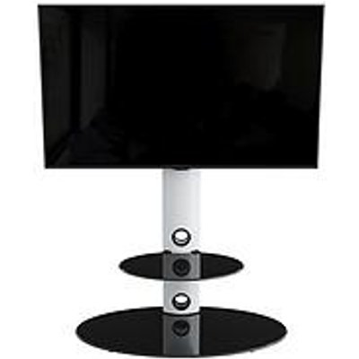 Avf Lugano Oval 800 Tv Stand - White/Black - Fits Up To 65 Inch