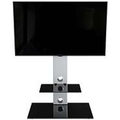 Avf Lesina Tv Stand 700 - Fits Up To 65 Inch Tv - Silver/Black