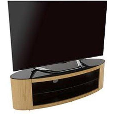 Avf Buckingham Affinity 1400 Oval Tv Stand - Oak/Black - Fits Up To 65 Inch Tv