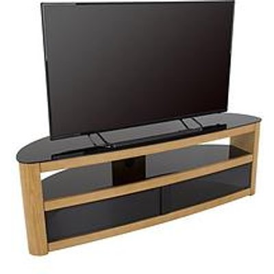 Avf Burghley Affinity Curved 1500 Tv Stand - Oak/Black - Fits Up To 70 Inch Tv