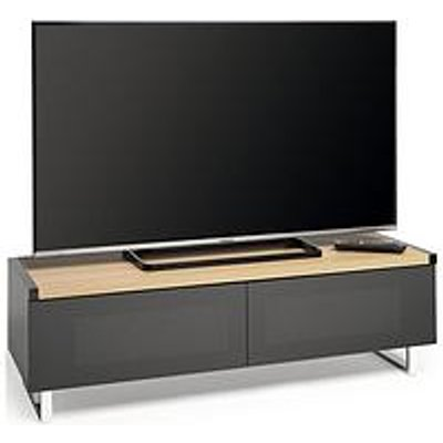 Avf Panorama 120 Tv Stand - Oak/Grey - Fits Up To 60 Inch Tv