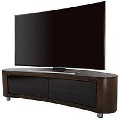 Avf Bay Affinity 1150 Tv Stand - Walnut/Black - Fits Up To 55 Inch
