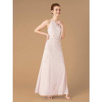 Monsoon Summer Sustainable Embellished Maxi Dress - Lilac