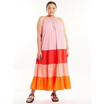 Never Fully Dressed Curve Sunrise Midi Dress - Multi