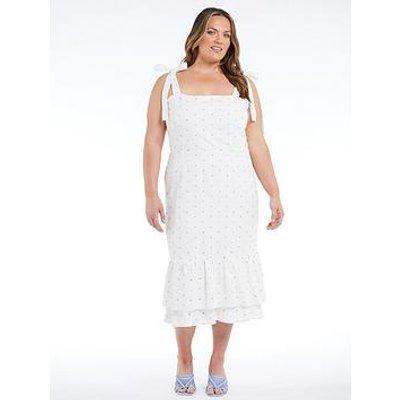 Never Fully Dressed Curve Mia Rainbow Dress - White