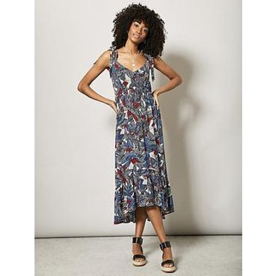 Mint Velvet Daniella Print Midi Sun Dress