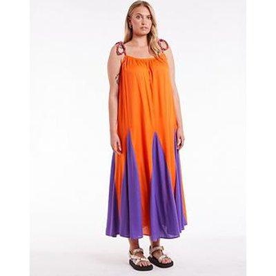 Never Fully Dressed Curve Betty Maxi Dress - Orange