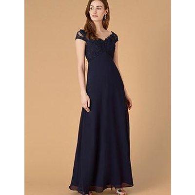 Monsoon Dawn Lace Bardot Maxi Dress