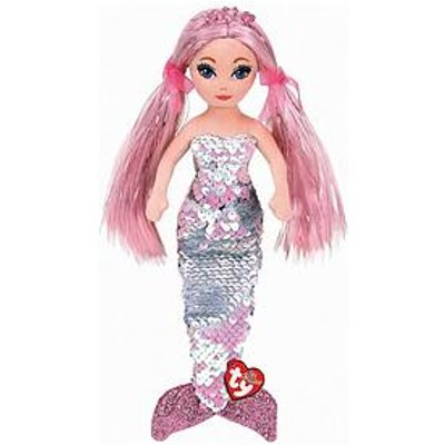 Ty Cora Pink Sequin Plush Mermaid - Large 90Cm