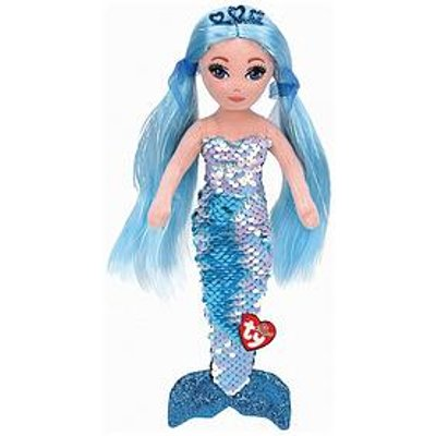 Ty Indigo Aqua Sequin Plush Mermaid - Large 90Cm