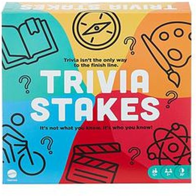 Trivia Stakes Family Board Game With Trivia And Wagers