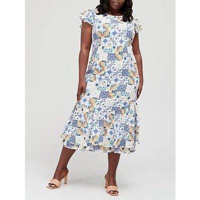 Never Fully Dressed Curve Amalfi Frida Dress - Multi