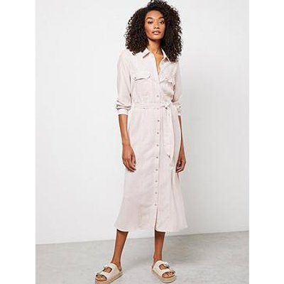 Mint Velvet Stripe Shirt Dress