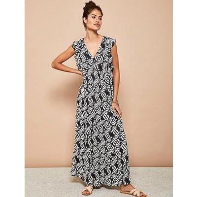 Mint Velvet Mint Velvet Kyla Geo Print Ruffle Maxi Dress