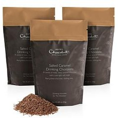Hotel Chocolat Salted Caramel Drinking Chocolate - 3X 250G Resealable Pouches,