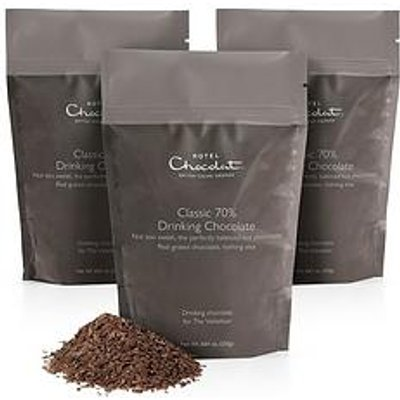 Hotel Chocolat Classic 70% Drinking Chocolate - 3X 250G Resealable Pouches