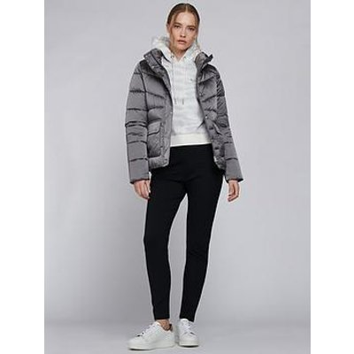 Barbour International Barbour International Zolder Funnel Neck Quilted Jacket - Chrome